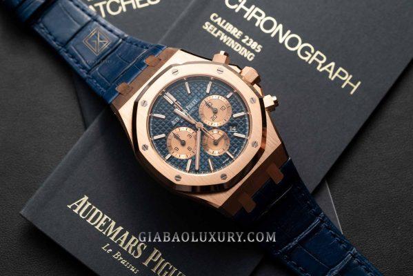 Đồng Hồ Audemars Piguet Royal Oak Chronograph 41mm 26331OR.OO.D315CR.01 Dây Da Cá Sấu