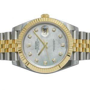 Đồng Hồ Rolex Datejust 41 126333 Mặt Số Vỏ Trai Trắng