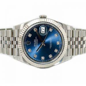 Đồng Hồ Rolex Datejust 41 126334 Mặt Số Xanh Nạm Kim Cương