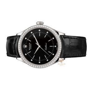 Đồng Hồ Rolex Cellini Time 50709RBR-0008 Mặt Số Đen