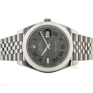Rolex Datejust 41 126334 Mặt Số Wimbledon Tối Cọc Số La Mã