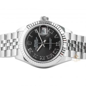 Đồng Hồ Rolex Lady-Datejust 28 279174 Mặt Số Xám Tối Cọc Số La Mã