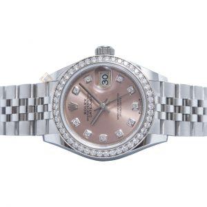 Đồng Hồ Rolex Datejust 28 279384 Mặt Số Hồng Nạm Kim Cương