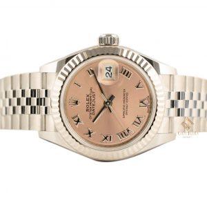 Đồng Hồ Rolex Lady Datejust 279174 Mặt Số Hồng Cọc Số La Mã