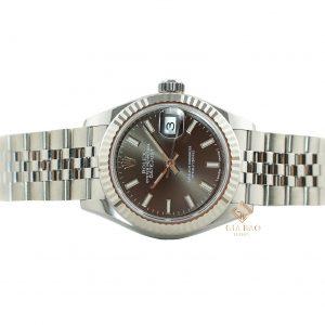 Đồng Hồ Rolex Lady-Datejust 28 279174 Mặt Số Xám Tối Cọc Số Dạ Quang